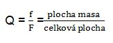 vzorec pro výpočet Q koeficientu